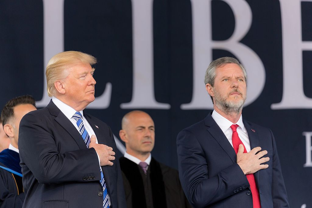 "Falwell Jr and the spiritual call to ""grow a pair"""